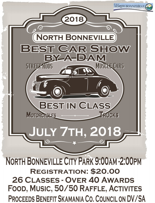 Best Car Show by a Dam North Bonneville Gorge Days